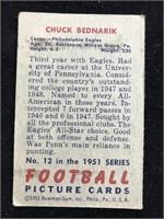 1951 Bowman Gum Chuck Bedarik Football Card