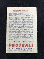 1951 Bowman Gum Thomas Wham Football Card