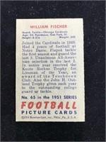 1951 Bowman Gum William Fischer Football Card