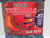 (2) 3 Packs of Winter Thermal Socks M 10-13