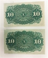 March 3, 1863 10 Cents 4th  Fractional Currency