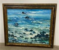 Ann Mittleman Oil on Canvas Seascape