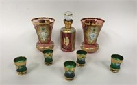 Bohemian Glass Lot