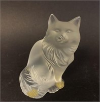 Lalique Crystal Cat
