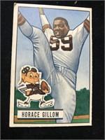 1951 Bowman Gum Horace Gillom Football Card
