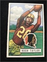 1951 Bowman Gum Hugh Taylor Football Card