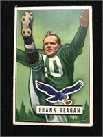 1951 Bowman Gum Frank Reagan Football Card