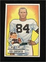 1951 Bowman Gum Ken Carpenter Football Card