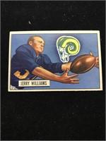 1951 Bowman Gum Jerry Williams Football Card