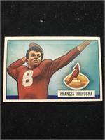 1951 Bowman Gum Francis Tripucka Football Card