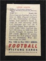 1951 Bowman Gum Leon Heath Football Card