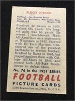 1951 Bowman Gum Elroy Hirsch Baseball Card