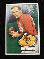 1951 Bowman Gum Y. A. Tittle Football Card