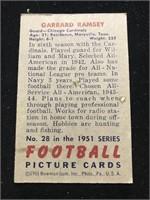 1951 Bowman Gum Garrard Ramsey Football Card