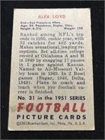 1951 Bowman Gum Alex Loyd Football Card