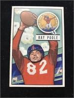 1951 Bowman Gum Ray Poole Football Card