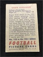 1951 Bowman Gum Chuck Hunsinger Football Card