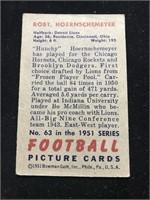 1951 Bowman Gum Robt. Hoernschemeyer Football Card