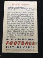 1951 Bowman Gum Fred Morrison Football Card