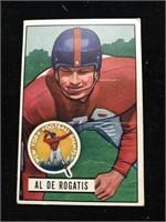 1951 Bowman Gum Al Derogatis Football Card