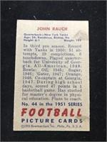 1951 Bowman Gum John Rauch Football Card