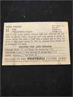 1952 Bowman Gum Pete Pihos Football Card