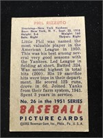 1951 Bowman Gum Phil Rizzuto Baseball Card