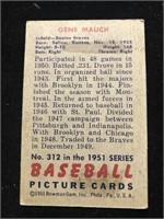 1951 Bowman Gum Gene Mauch Baseball Card