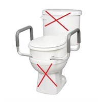 CAREX ELEVATED TOILET SEAT WITH HANDLES
