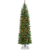 NATIONAL TREE FIR PENCIL TREE W/ MULTI COLOR 6.5'