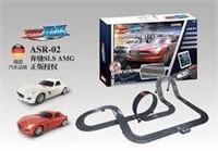 CAR SET W/ RACEWAY FOR HOME PLAY SLOT CAR/SMART