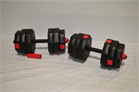 Vinyl Weight Set with (8) 2.5kg and (4) 2kg