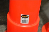 (3) Pioneer Stackable High Visibility Cones