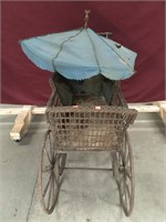 Antique Stroller w/ Umbrella Cover