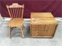 MCM Nightstand + Chair