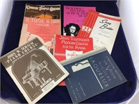 Carton of Vintage Sheet Music and Music Books