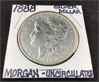 Morgan Silver Dollar, Uncirculated
