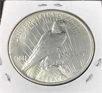1923 Peace Silver Dollar, Uncirculated