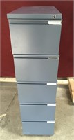 A 4 Drawer & 5 Drawer Gray Metal File Cabinet