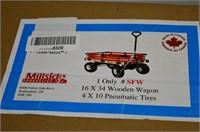 "Millside 16"" x 34"" Wooden Wagon"