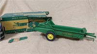 John Deere toy spreader with damaged box