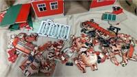 Milton Bradley Cardboard Barn Set