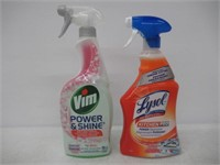 Lot of (2) Household Cleaners Vim & Lysol