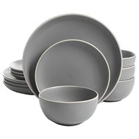 Gibson Home Rockaway 12-Piece Dinnerware Set