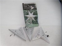 LumaBase Paper Lantern 7 Pointed Star, Silver
