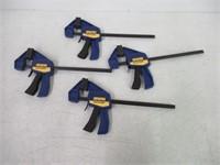IRWIN Quick-Grip One-Handed Mini Bar Clamp Set,