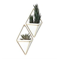 Umbra Trigg Hanging Planter Vase & Geometric Wall