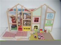 Melissa & Doug Hi-Rise Wooden Dollhouse and