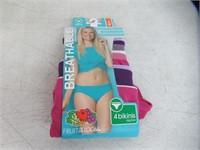 Fruit of The Loom Women's 6 Medium 4 Bikinis,
