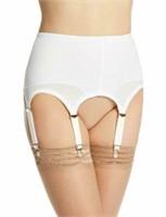 Rago Women's 2XL/34 6 Strap Garter Belt , White,